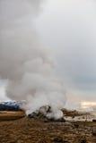 Geotermiczna aktywność w powulkanicznym terenie w Iceland Zdjęcie Stock