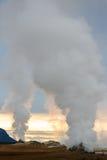 Geotermiczna aktywność w powulkanicznym terenie w Iceland Fotografia Royalty Free