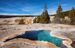 Geotermiczna aktywność Yellowstone park narodowy USA Zdjęcia Royalty Free