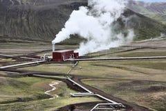 geotermiczna elektrownia Obrazy Royalty Free