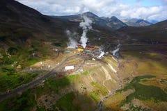 Geotermiczna elektrownia Kamchatka obraz royalty free