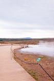 Geotermiczna gorąca woda przy geysir okręgiem w Iceland Obrazy Royalty Free