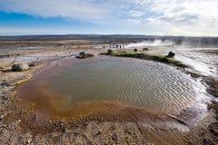 Geotermiczna gorąca woda Zdjęcia Royalty Free