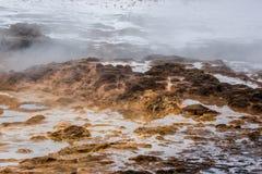 Geotermiczna powierzchnia w icelandic naturze Obrazy Royalty Free