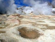 Geotermiczni pola Obrazy Royalty Free
