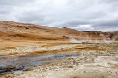 Geotermiczny krajobraz w Iceland4 Zdjęcia Stock