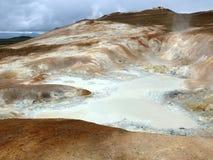 Geotermiczny pole w Iceland Obrazy Stock