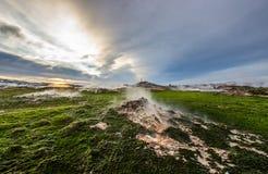 Geotermiczny teren zdjęcie royalty free