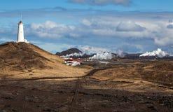 Geotermiczny teren w Iceland zdjęcie royalty free