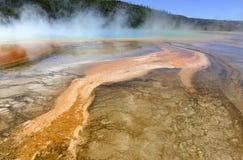 Geotermisk aktivitet på den Yellowstone nationalparken, Wyoming Royaltyfria Foton