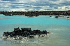 Geotermisk brunnsort för blå lagun nära Grindavik, Island royaltyfri foto
