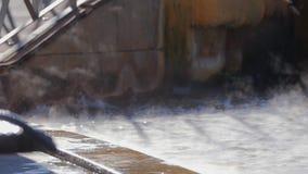 Geotermisk brunnsort för varm vår lager videofilmer