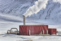 Geotermisk fabrik Arkivbild