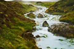 Geotermisk flod Arkivfoto