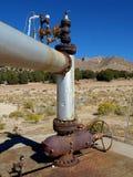geotermisk headstock Arkivfoto
