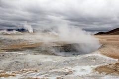 geotermisk hverir för område Royaltyfria Foton