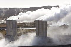 geotermisk iceland strömstation royaltyfria foton