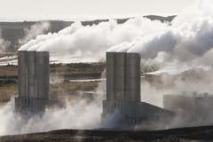 geotermisk iceland strömstation arkivfoto