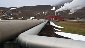 geotermisk iceland strömstation royaltyfri fotografi