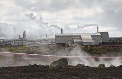 geotermisk iceland strömstation arkivbilder