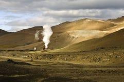 geotermisk kraflaväxtström Royaltyfri Fotografi