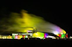 Geotermisk kraftverk Fotografering för Bildbyråer