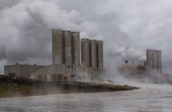 Geotermisk kraftverk, Island. Arkivbild