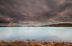 Geotermisk kraftverk, Island. Royaltyfria Foton