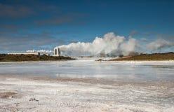 Geotermisk kraftverk, Island. Arkivfoto