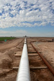 geotermisk pipeline Royaltyfri Fotografi