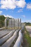 geotermisk rørströmstation Arkivbilder