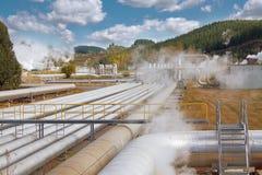 geotermisk strömstation Royaltyfria Foton