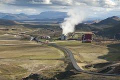 geotermisk strömstation arkivfoton