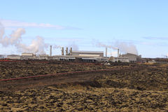 geotermisk strömstation Fotografering för Bildbyråer