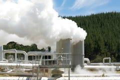 geotermisk strömstation för alternativ energi Arkivbilder