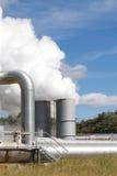 geotermisk växtström för utsläpp Royaltyfri Foto