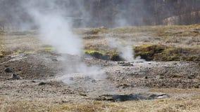 geotermisk varm pöl arkivfilmer