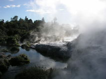 geotermiska lufthål Arkivbilder