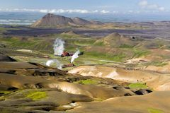 geotermiskt ångar jag Royaltyfri Foto