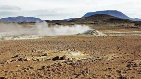 geotermiskt fält arkivfilmer