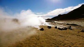 geotermiskt fält stock video