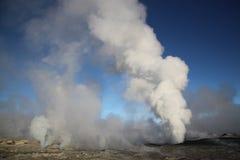 Geotermiskt fält, Bolivia, Sydamerika Royaltyfri Fotografi