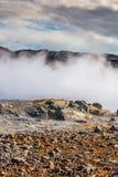 Geotermiskt område Arkivfoto