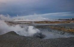 Geotermiskt område Royaltyfri Foto