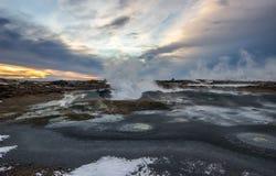 Geotermiskt område Fotografering för Bildbyråer