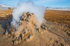 Geotermiskt område för Nà¡ mafjall av nordostliga Island Arkivfoto