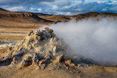 Geothermal activities in Hverir Royalty Free Stock Photo