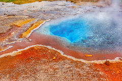 Geothermal activity with hot springs, Iceland Royalty Free Stock Images