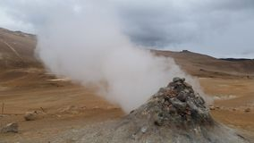 Geothermal activity in  Iceland called Fumarole Stock Photos