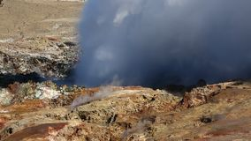 Geothermal Activity in Iceland stock video footage